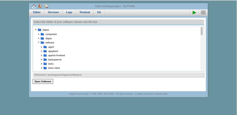 Webrunner Interface - Open Software Release